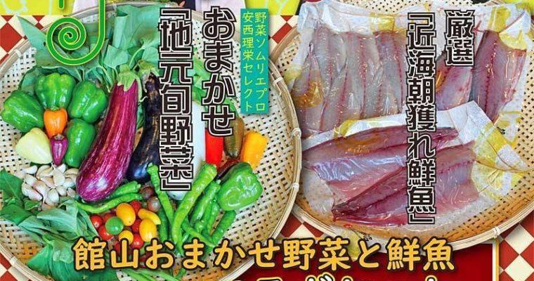 南房総館山【朝獲れ鮮魚X旬野菜おまかせセット】販売スタート!